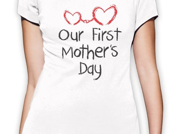 Our First Mother's Day Women's Short Sleeve T-Shirt