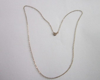 Vintage 18 inch Gold Wash Sterling Silver Chain Necklace
