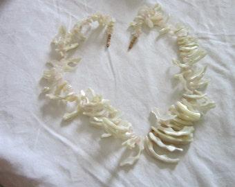Wonderful Rose Quartz & Mother of Pearl Large Bodacious Retro Necklace