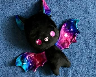 Bat Plushie / Plush Toy / Galaxy Space Stars Halloween Cute Stuffed Animal