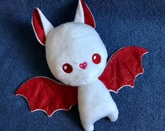 Bat Plushie / Plush Toy / Peppermint Christmas Stuffed Animal