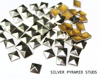 c3f08ff18d9b74 DIY 150 Silber 7 mm Hotfix-Platz Pyramide Studs