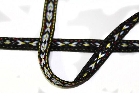 2 YARDS aztèque ethnique tricoté garniture de ruban