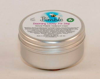 Bimble 'Pit Stop' Natural Vegan Probiotic Deodorant Cream in 4 Scent Options