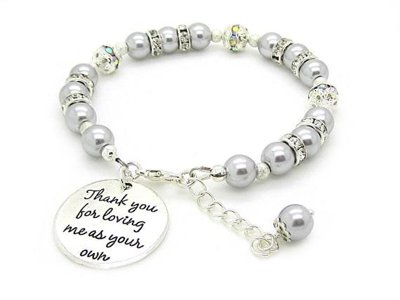 Eltern Danke Hochzeitsgeschenke Brautigam Mutter Armband Im Etsy