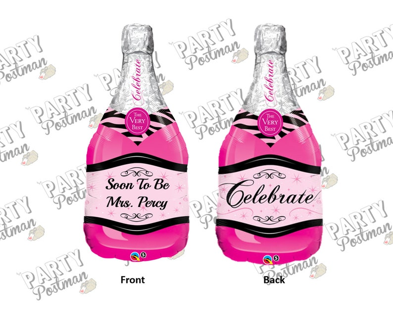 bachelorette or engagement Parties 39 Custom Future Mrs Wording Pink Champagne Inflatable Foil Balloon for weddings hen dos