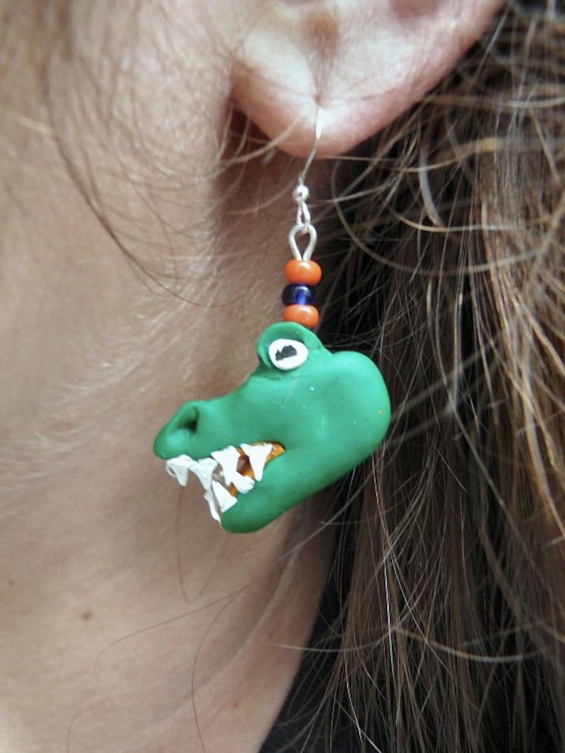 University of Florida Gators Mascot Earrngs image 0