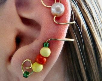 Ear Cuff (Gold, Pearl, Orange, Yellow, & Green)