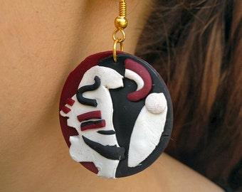 Florida State University Osceola Mascot Earrings