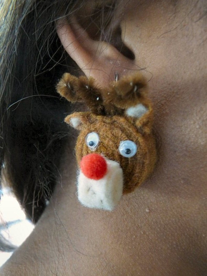 Rudolph the Red-Nosed Reindeer Earrings image 0