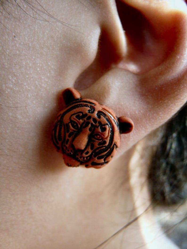 Tiger Post Earrings image 0