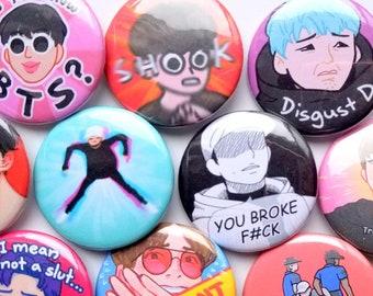 BTS memes buttons