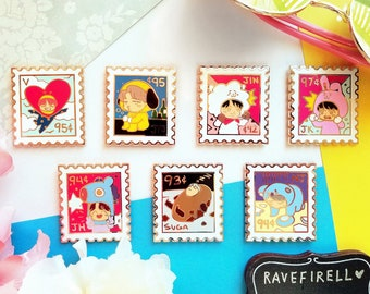BTS Stamp Enamel Pins