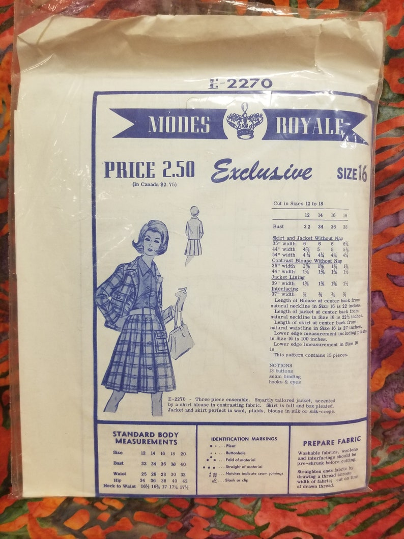 2270 Modes Royale Exclusive Pattern size 16