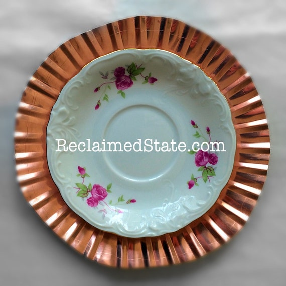 Charger Plate, Handmade, Genuine Copper, Tray, Dish