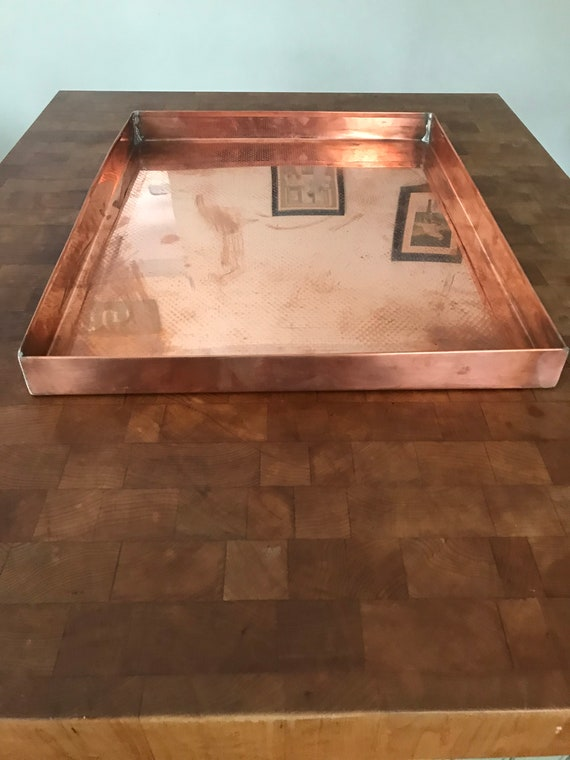 "Copper tray  Slight damage   28' x 16"" x 1.5"""