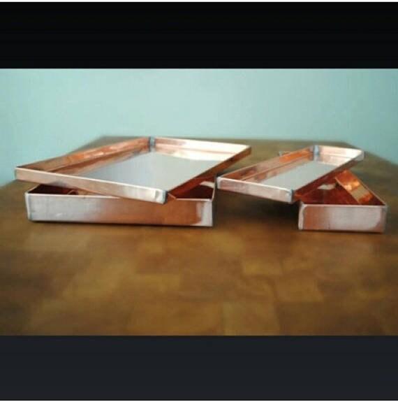 "Copper Tray 32"" x 8.5"" x .5"""