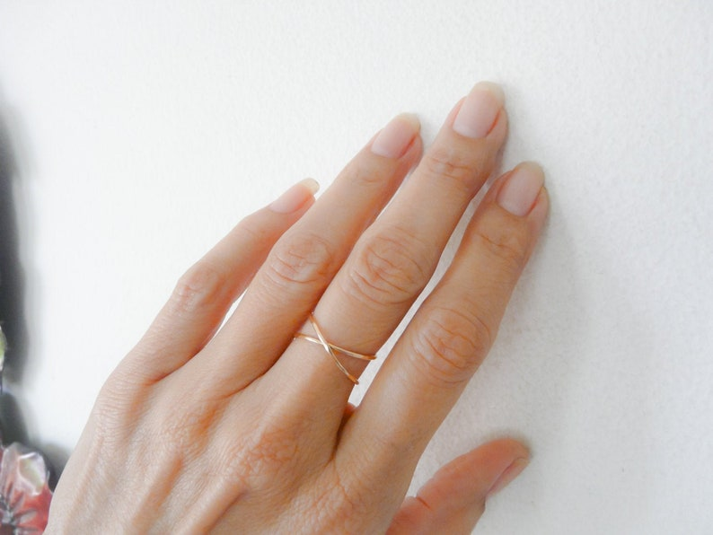 Sterling Silver Ring For Women Infinity Ring Hammered Handmade image 1