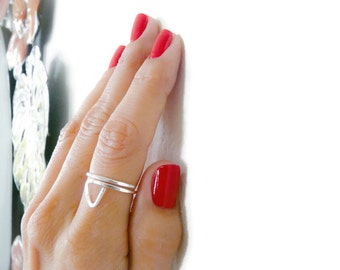 Sterling Silver Ring//Adjustable // Thumb Ring//  Handmade Jewelry//Beach Jewelry// For Her