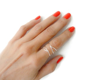 Criss Cross Sterling Silver//Silver Ring//Rings For Women//Index Rings//