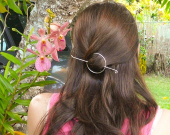 Silver Hair Slide//Circle Hair Slide//Hair Jewelry//Mother's Day Gifts//Hair Pin//Spring Jewelry