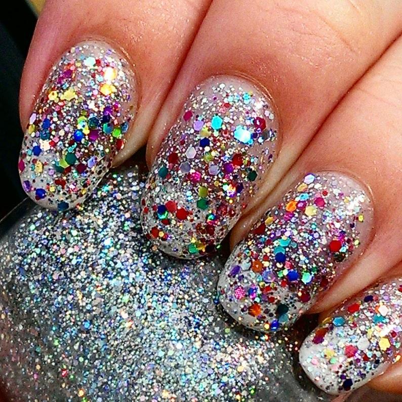 Glitterbomb handmade artisan nail polish image 0