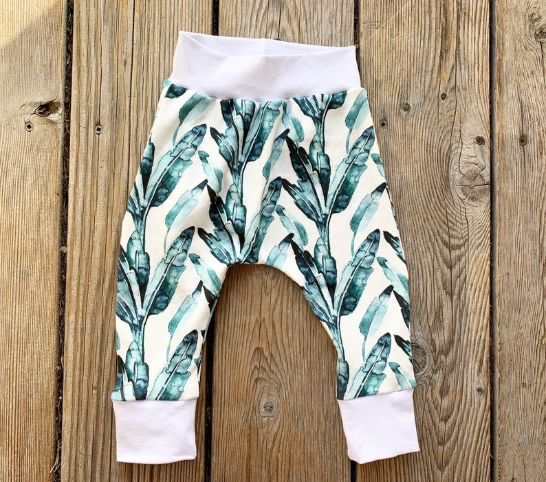Baby Shower Leaves Baby Boy Toddler Pants Beach Hanalei Joggers Harem Gift