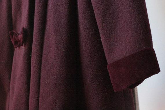 Vintage Childrens Purple Wool Rothschild Princess… - image 4