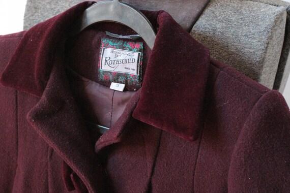 Vintage Childrens Purple Wool Rothschild Princess… - image 3