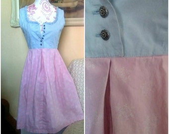 Vintage Floral Dress /  Floral Print Dress /  Almsach Dress