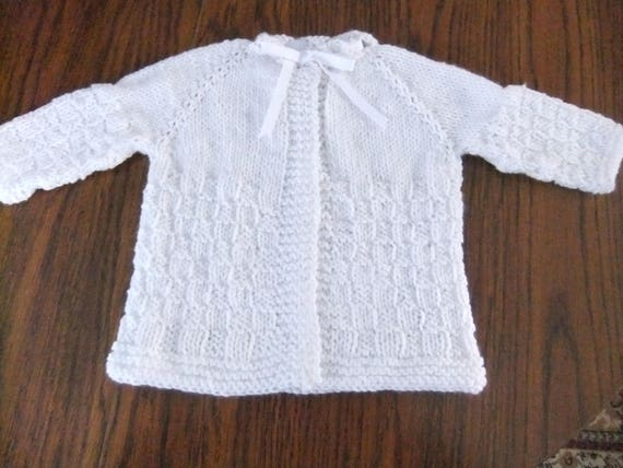 dc649923e BABY SWEATER   WHITE Baby Sweater   Size 3-6 Months Size