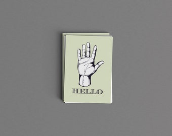 Hello Just Because Digital Card or Print