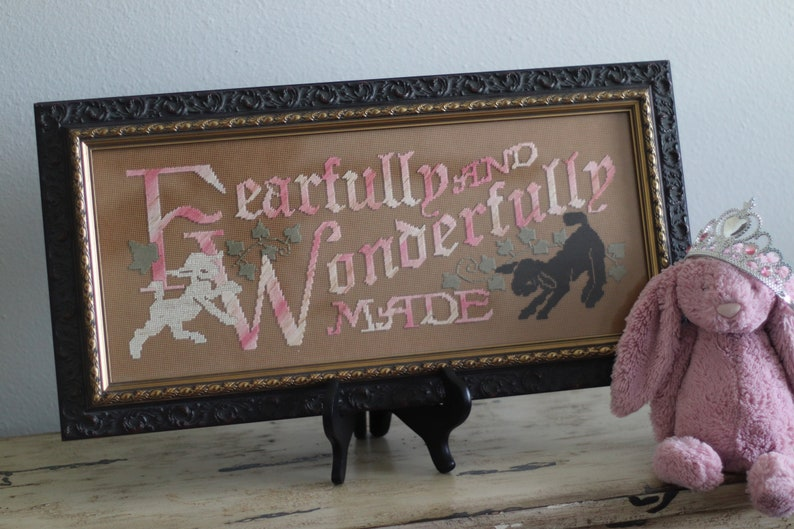 Victorian Motto Sampler Kit Fearfully And Wonderfully Made