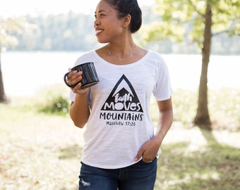 Christian Clothing - Christian Shirts - Jesus Shirt - Women Mountain - Christian Tees - Faith Tee - Hiking Shirt - Christian Gifts, Be Still