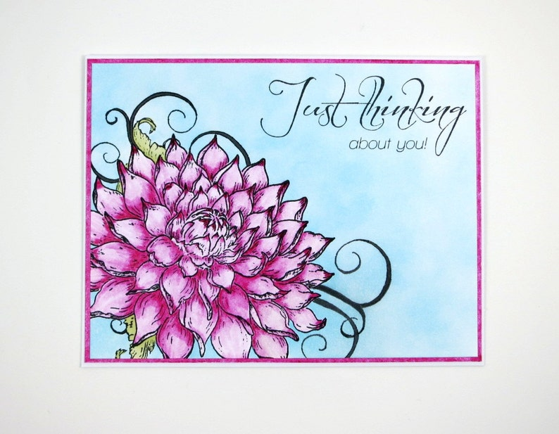 Thinking Of You Card Greeting Card Just Because Card image 0