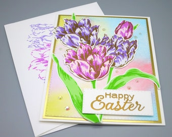 Tulip Bouquet Easter Card