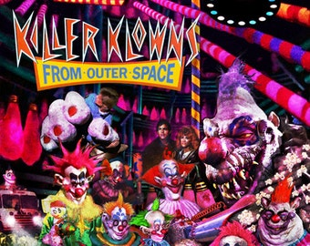 Killer Klowns From Outer Space 11X17 Signed Poster