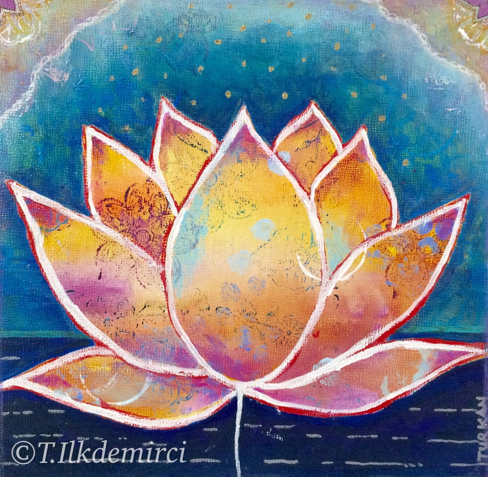 Lotus 20 x 20 giclee art print lotus wall art etsy zoom izmirmasajfo