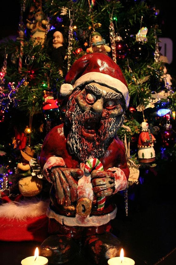 Christmas Zombie Santa.Zombie Santa Corpse Zombie Christmas Ornament Decoration