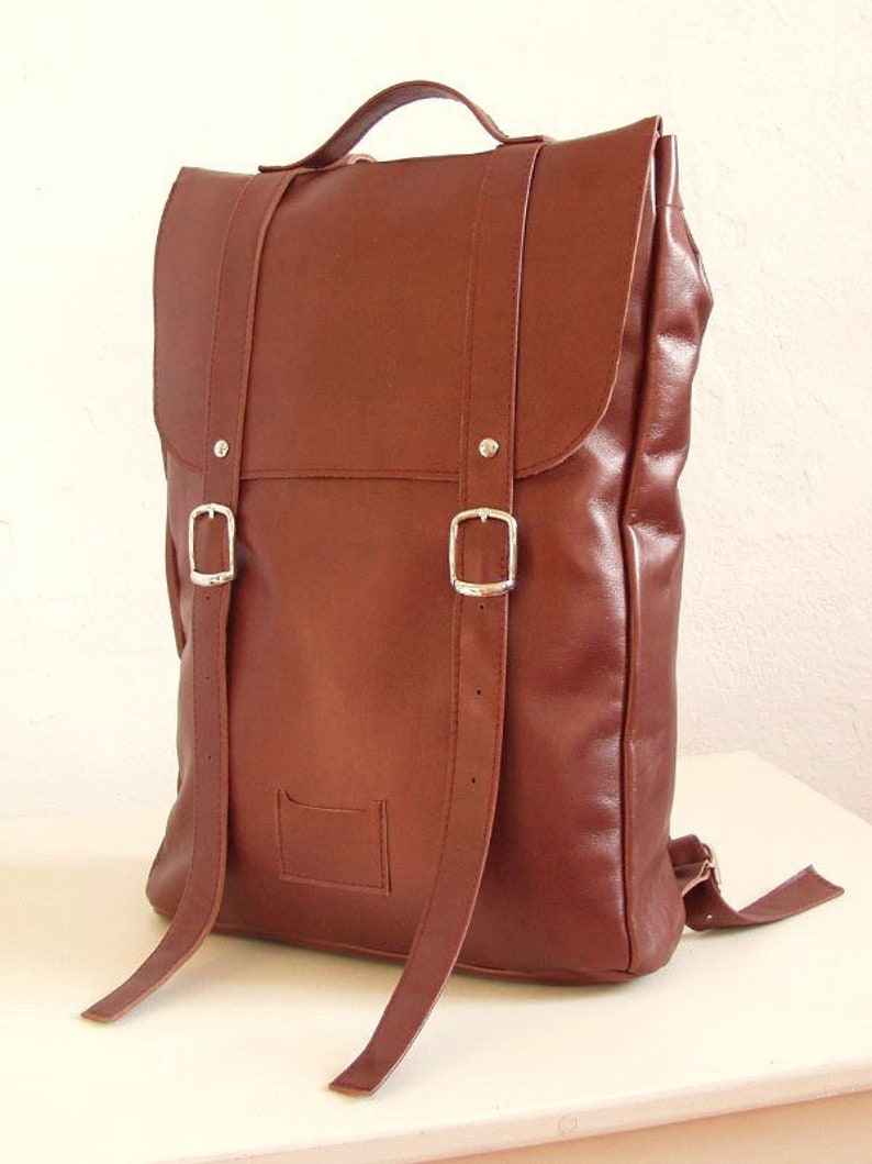 24e001959145 Chestnut middle size leather backpack rucksack   To order