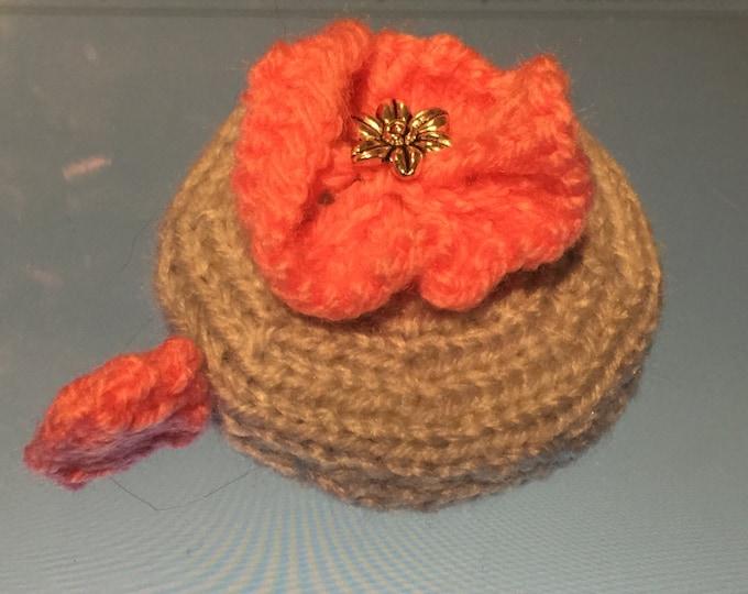 Flower Tape Measure Cover Knitting Pattern