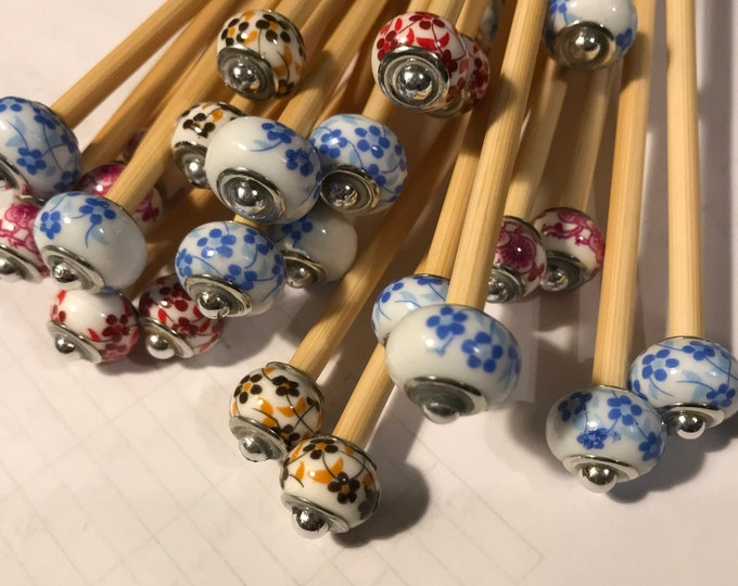 Cherry Blossom Knitting Needle and Stitch Marker Gift Sets