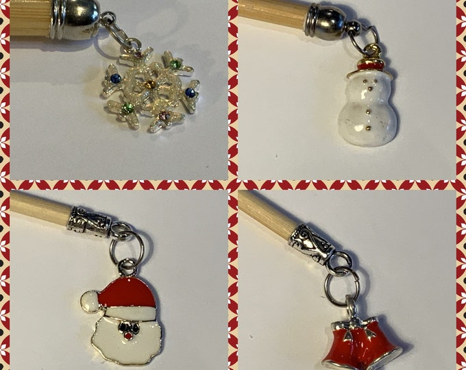 Limited Edition Christmas Crochet Hook, choose your size and Pendant