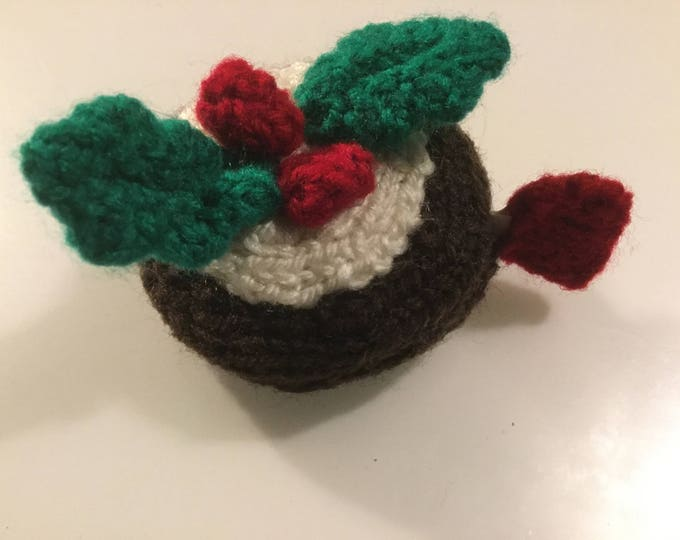 Christmas Pudding Tape Measure Cover Knitting Pattern