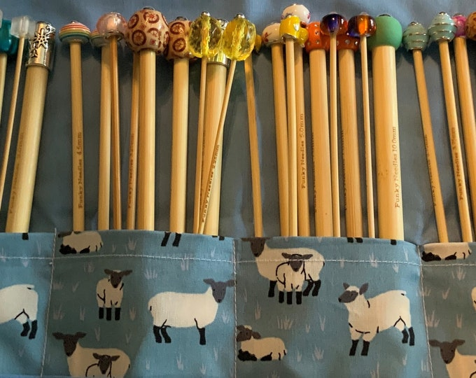 Full Set Of Beaded Knitting Needles Choose Length - Complete With Extras