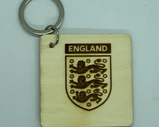 Engraved Handmade Wooden Key Fob with Name/Phone Number on Back