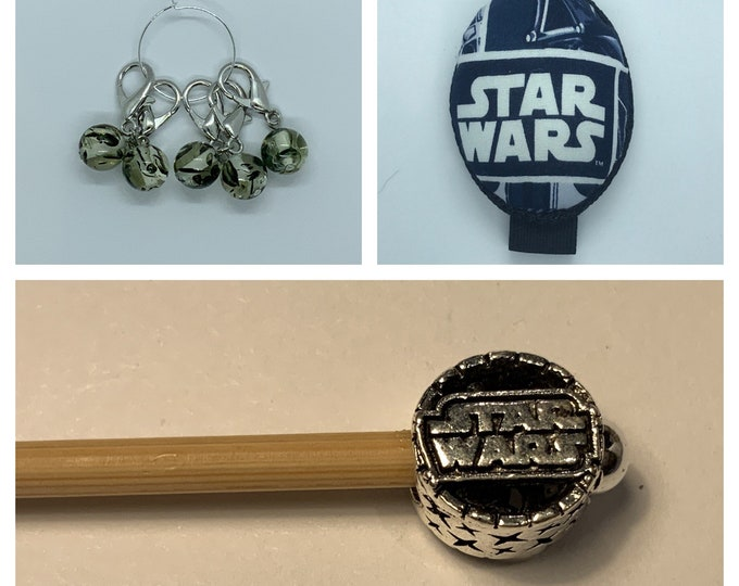 Star Wars Crochet Gift Set includes 15cm 4mm crochet hook, wrist pin cushion and crochet clips