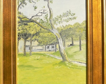 Replica of Monet's Norman Farm through the Trees - 100% hand painted oil on canvas