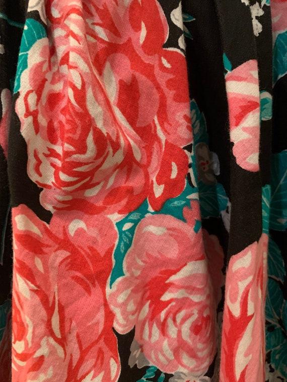 1980s floral mini dress - image 3