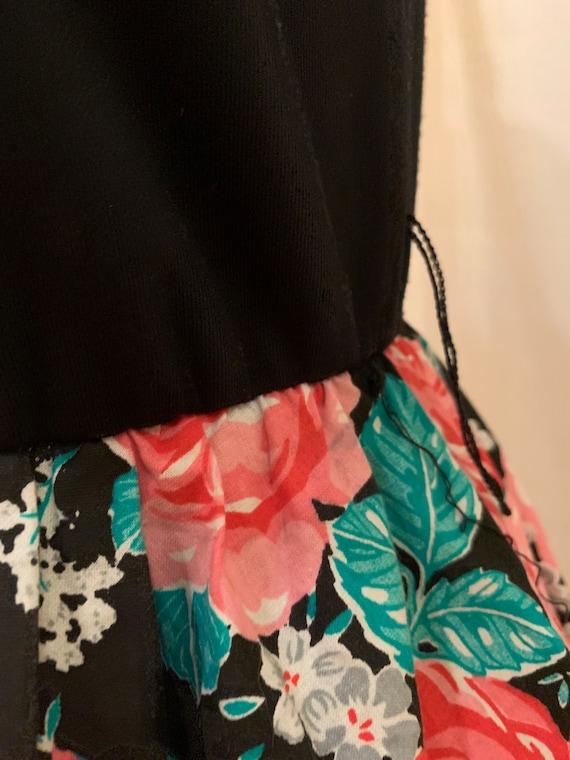1980s floral mini dress - image 7